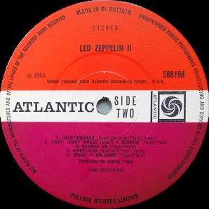 588198 Led Zeppelin Ii Rare Record Collector