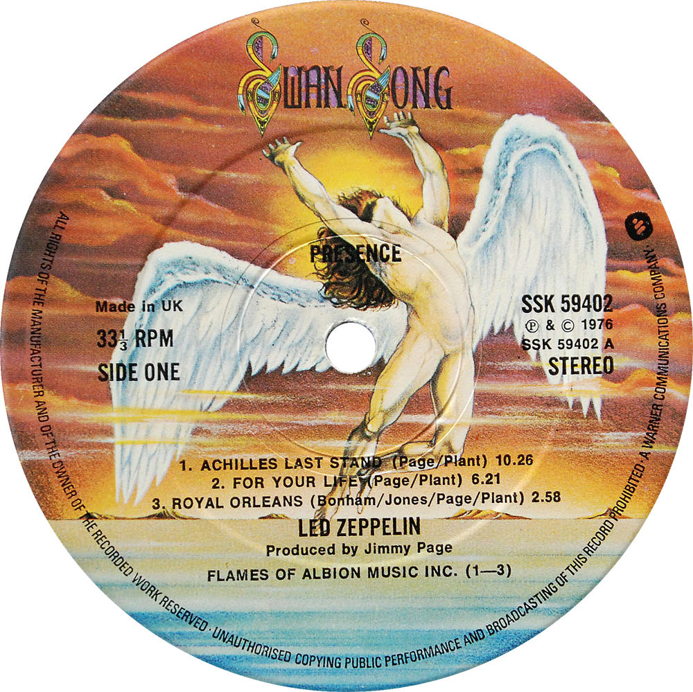 Ssk 59402 Led Zeppelin Rare Record Collector