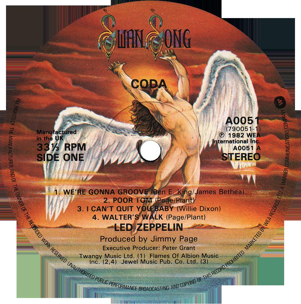 A0051 Led Zeppelin Rare Record Collector