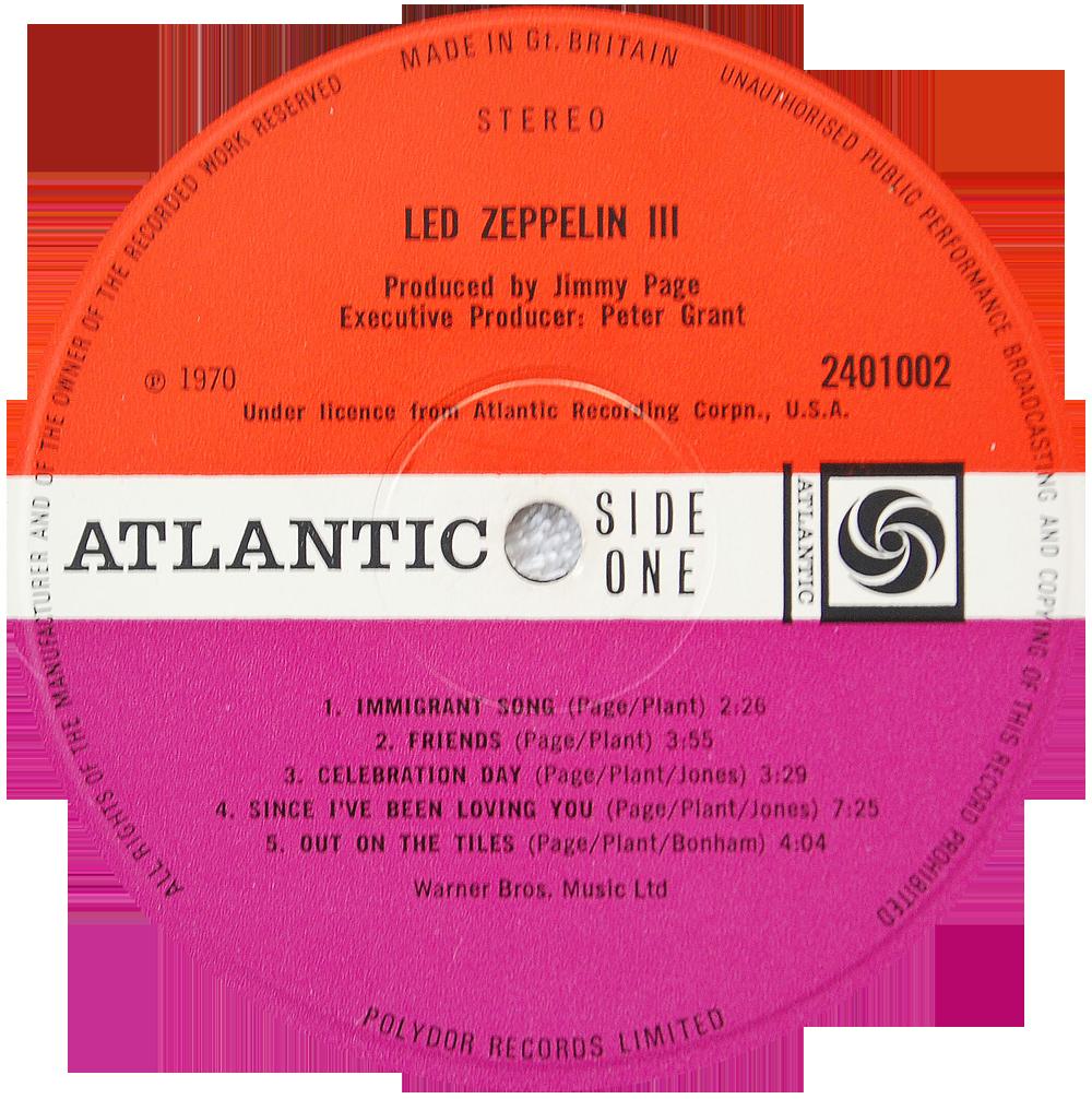 2401002 Led Zeppelin Iii Rare Record Collector