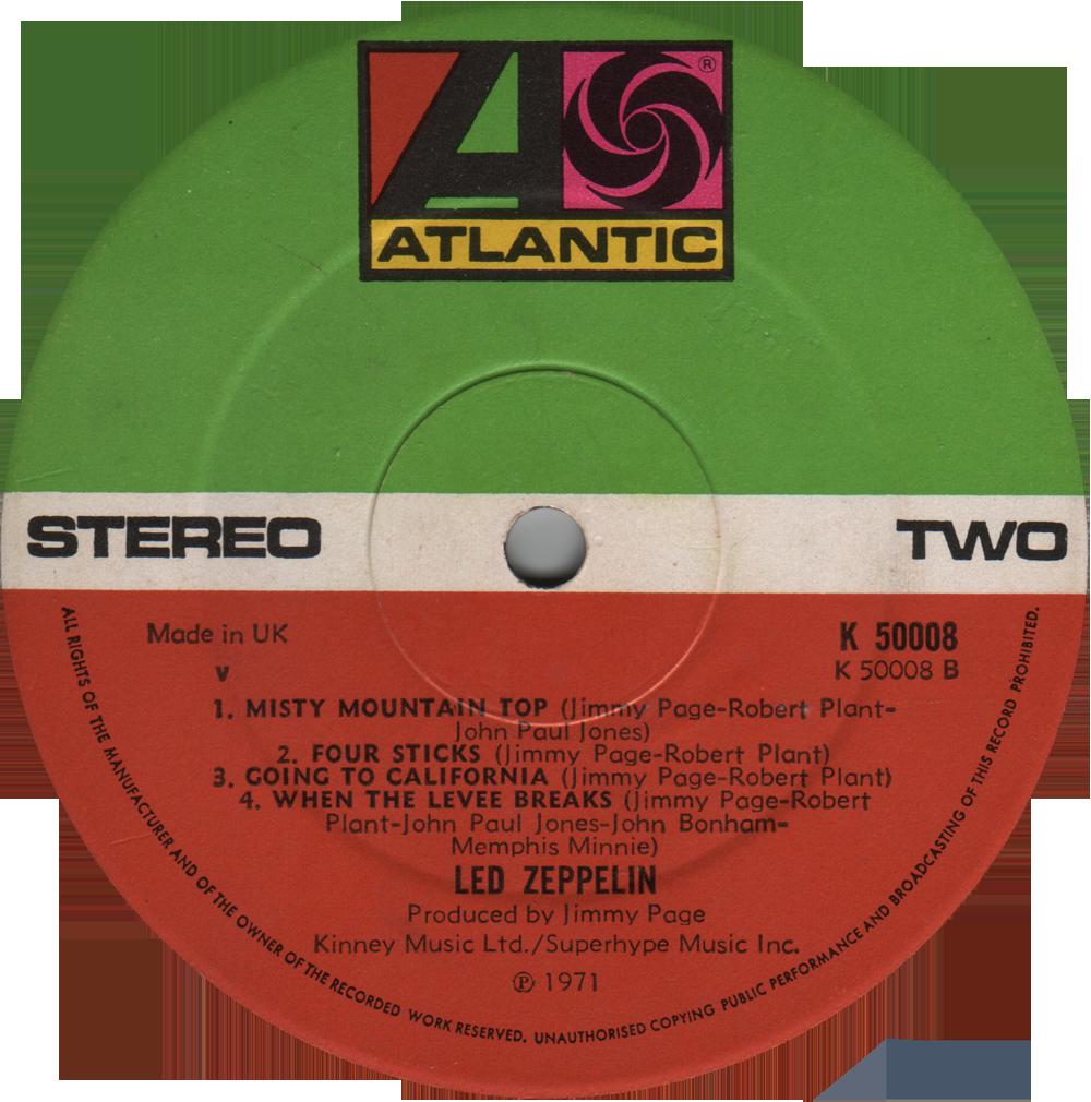 2401012 Untitled 4th Album Rare Record Collector