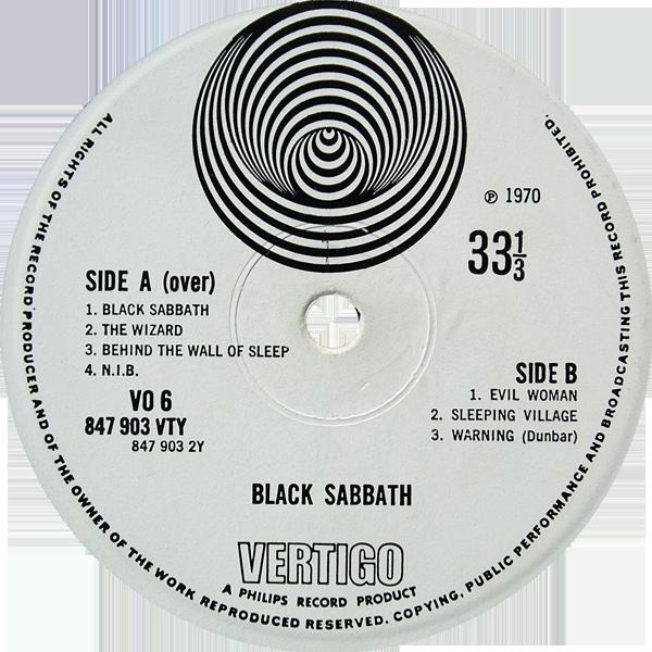 Vo6 Black Sabbath Rare Record Collector