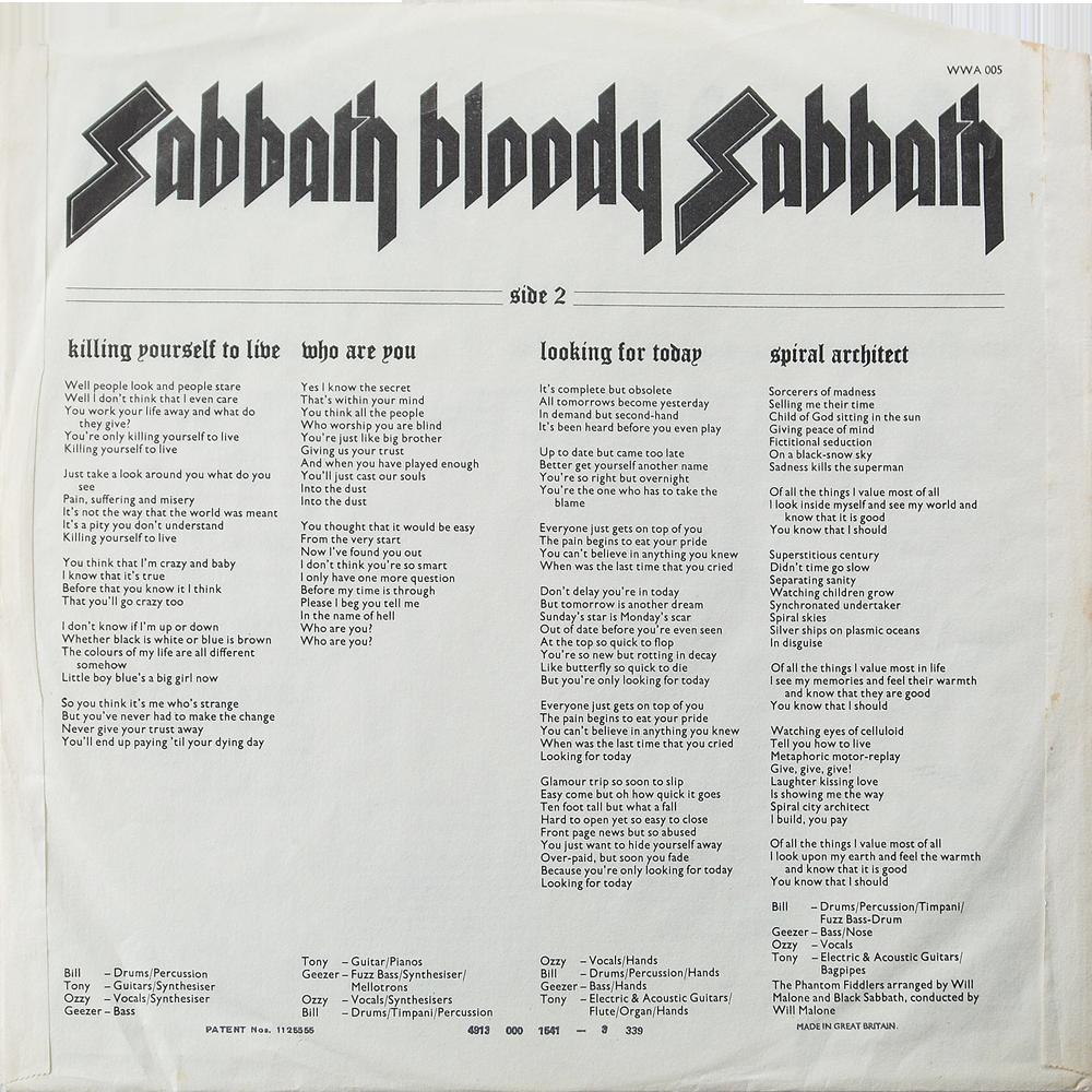 Black Sabbath - Sabbath Bloody Sabbath (1973) Song by Song