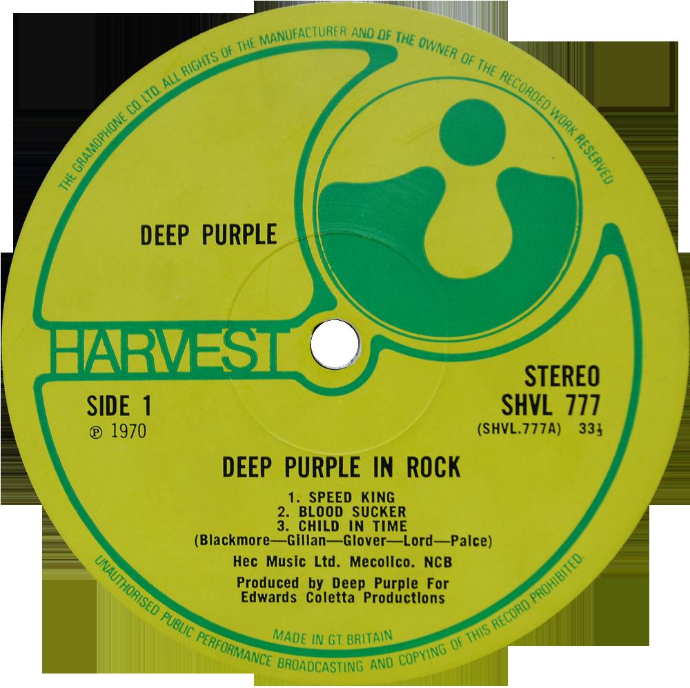 Shvl 777 Deep Purple Rare Record Collector