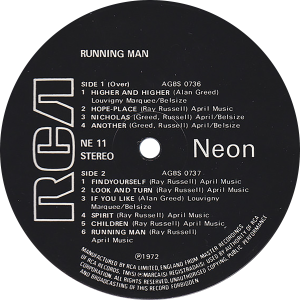 NE11 Running Man label