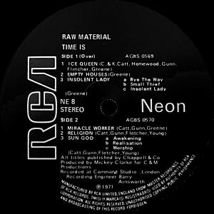 NE8 Raw Material label