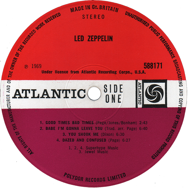 Led Zeppelin Blue Dot Apron