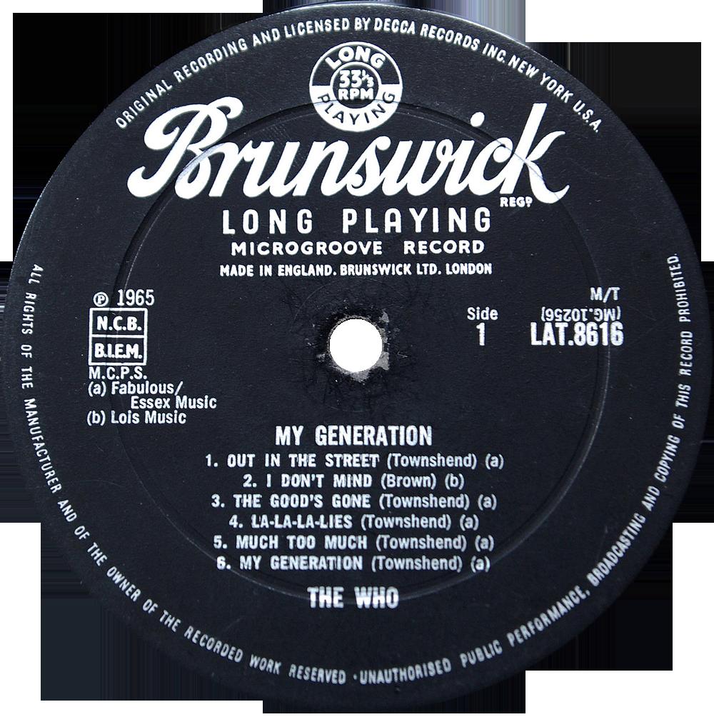 Brunswick Lat8616 The Who Rare Record Collector