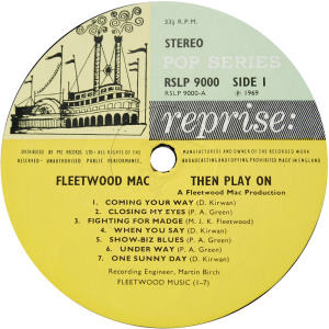 Reprise-RSLP9000-Fleetwood-Mac-label