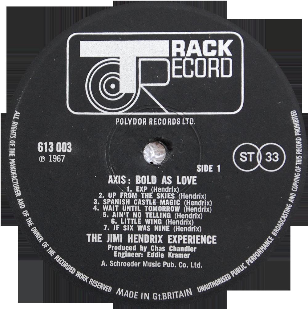612003 613003 Jimi Hendrix Experience Rare Record