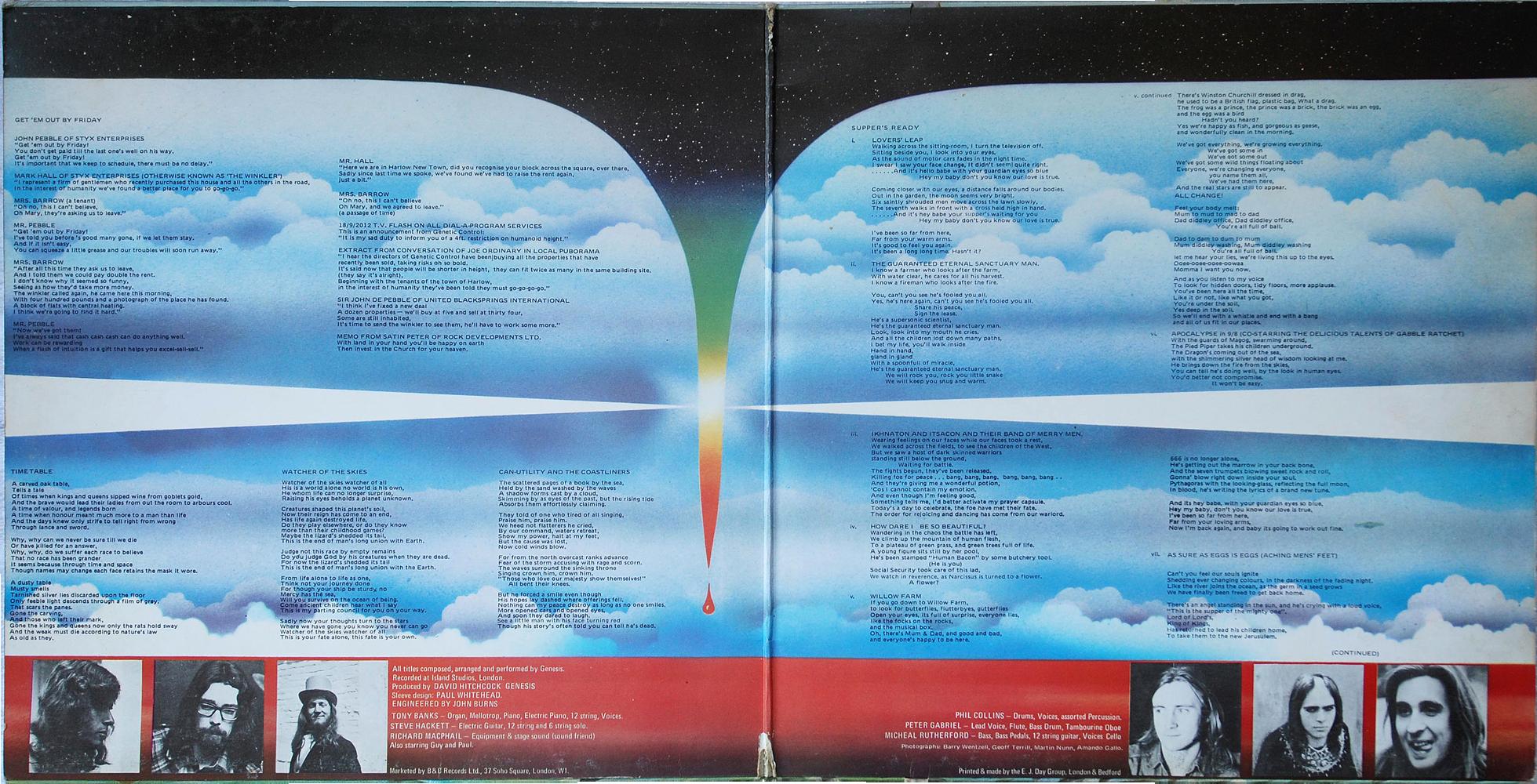 Charisma Cas 1058 Genesis Rare Record Collector