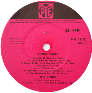 Pye-NPL18112-Kinks-label