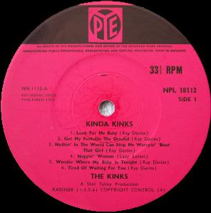 Pye-NPL18112-Kinks-label