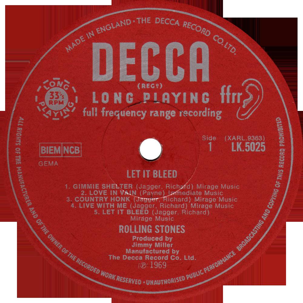 Decca Lk 5025 Rolling Stones Rare Record Collector