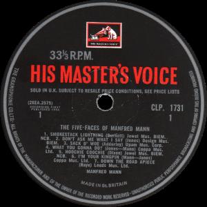 HMV-CLP1731-Manfred-Mann-label
