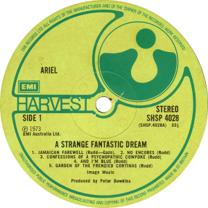 SHSP-4028-Strange-Fantastic-Dream-label