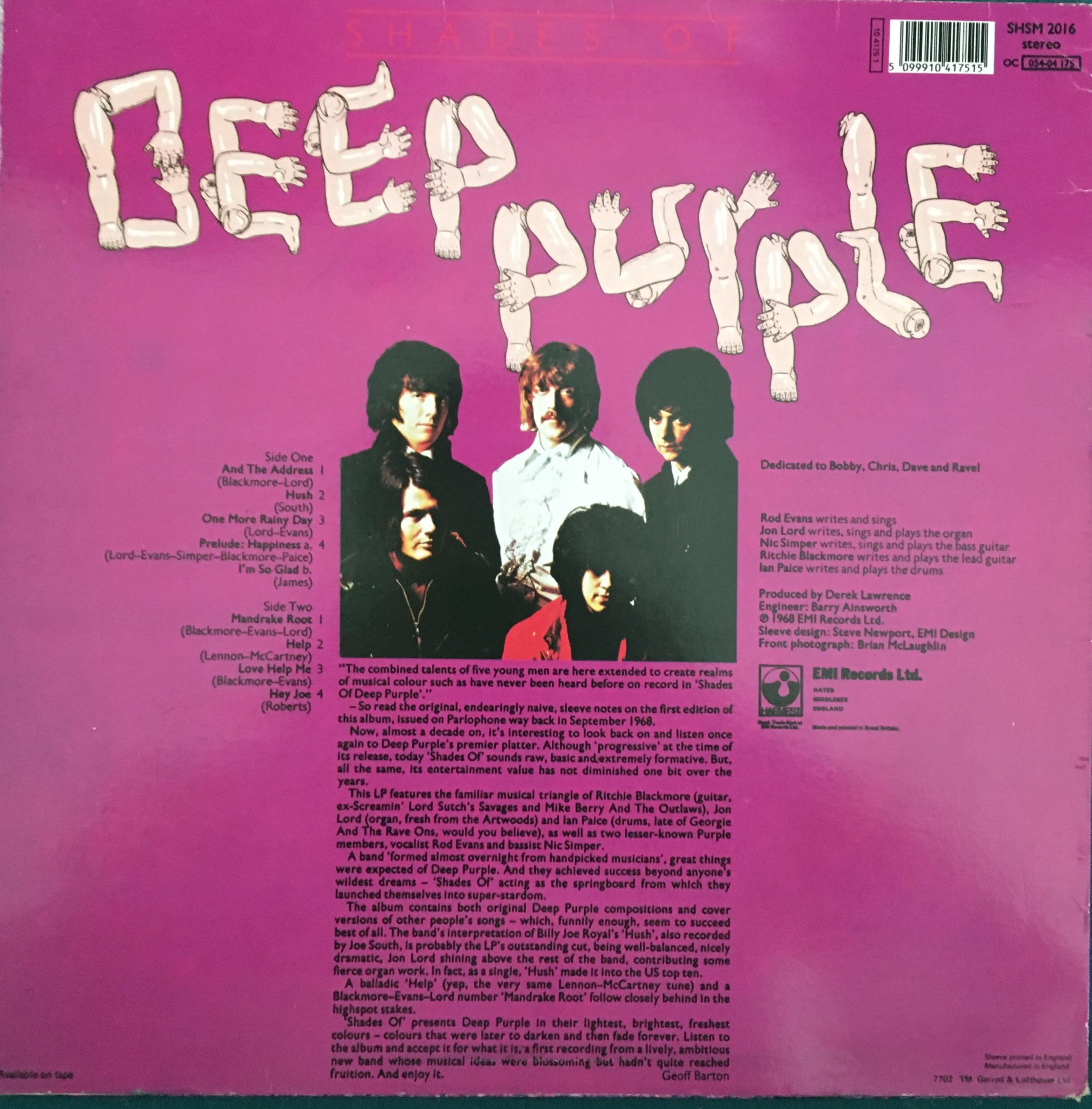 Parlophone Pcs 7055 Deep Purple Rare Record Collector,Subway Tile Backsplash Pictures