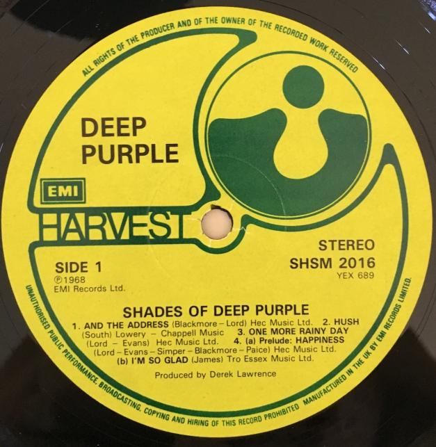 Shades Deep Purple label 1 no Heritage symbol