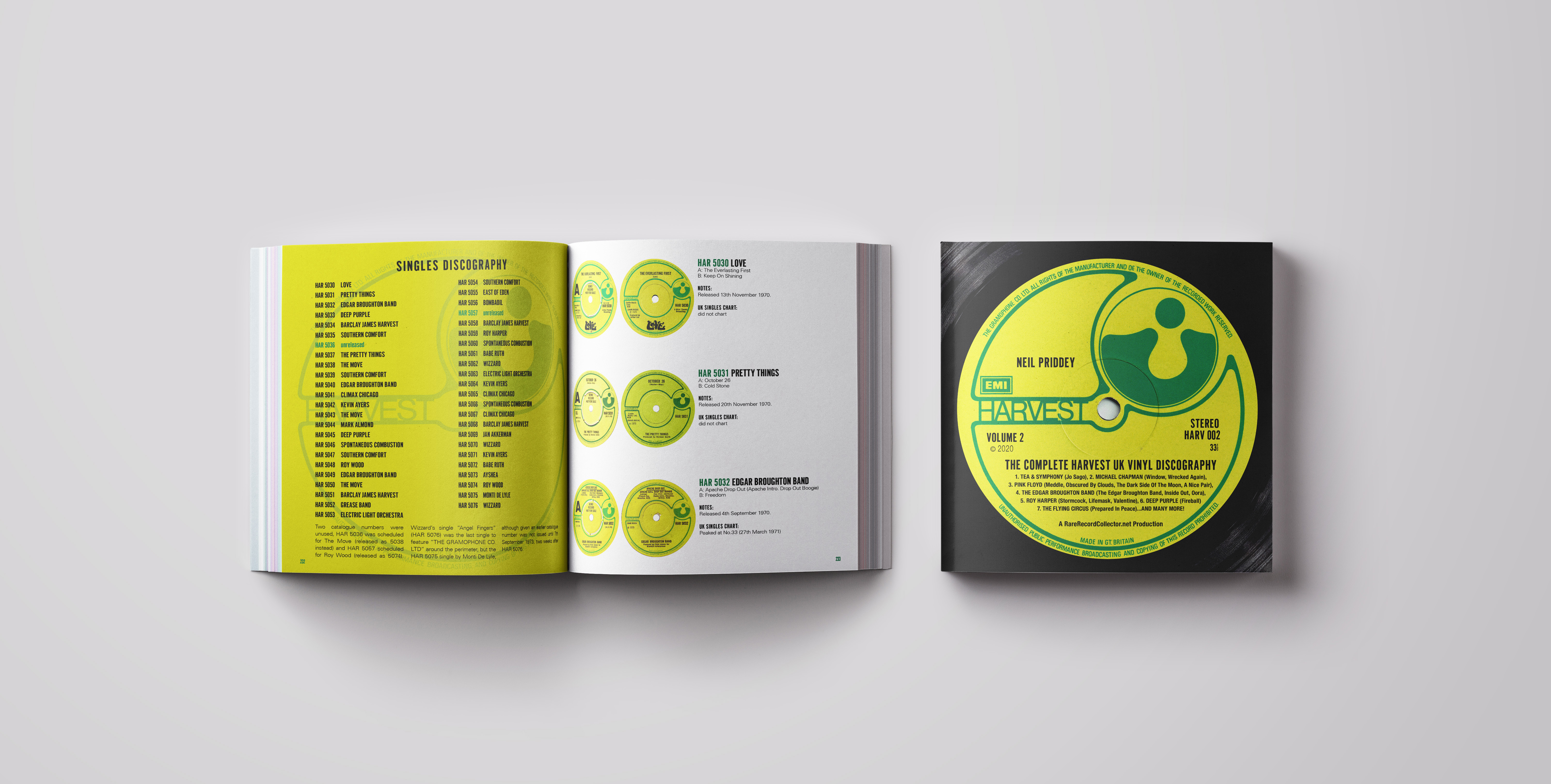 Book cover and spread mockup 232-233